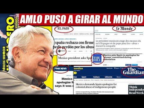 AMLO impacta a nivel mundial; en EU y Europa medios polemizan por el perdón de España