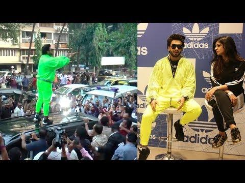 CRAZY Ranveer Singh At Adidas Store Launch in Mumbai