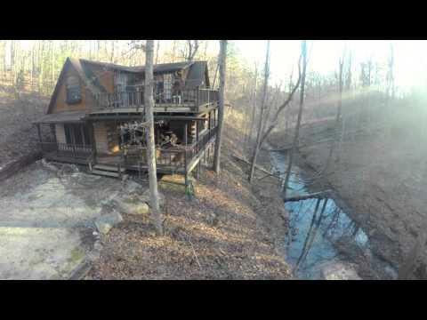 Log Cabin & Creek Missouri Ozarks