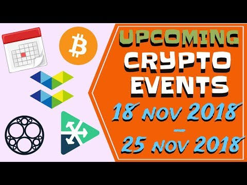 Upcoming Crypto events | 18.11.2018-25.11.2018