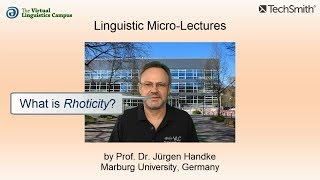 Linguistic Micro-Lectures: Rhoticity