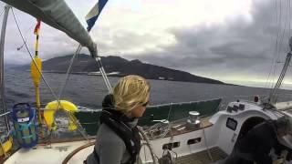 El Galante sails from Tazacorte, La Palma to Puerto de Vueltas, La Gomera