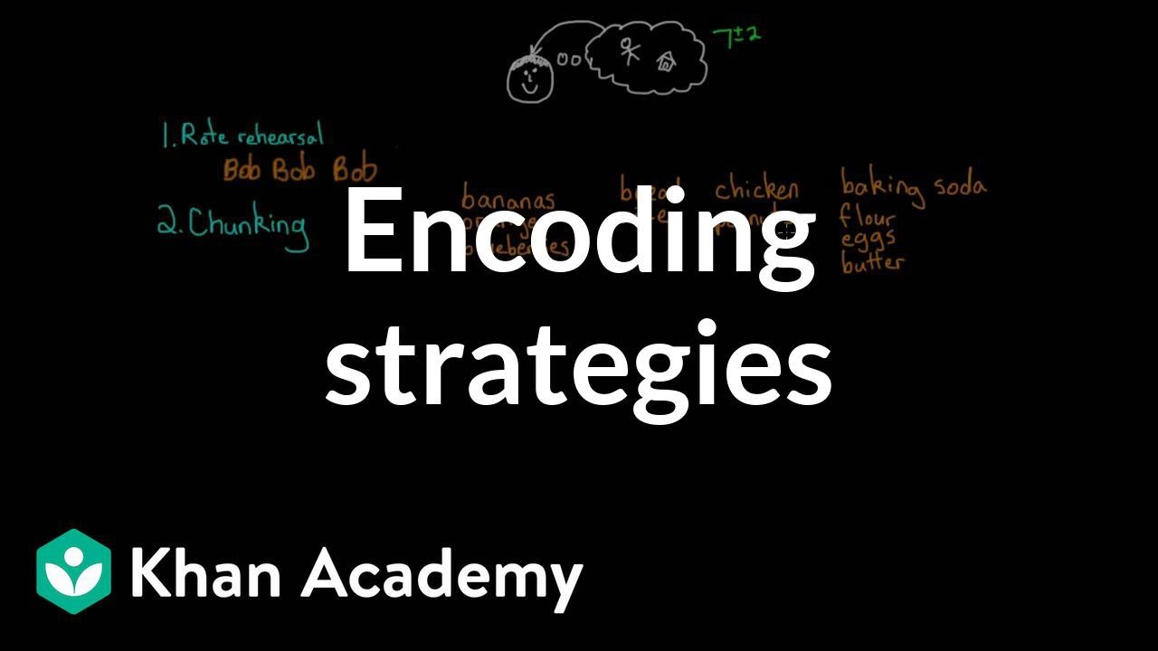 Encoding strategies (video) | Memory | Khan Academy