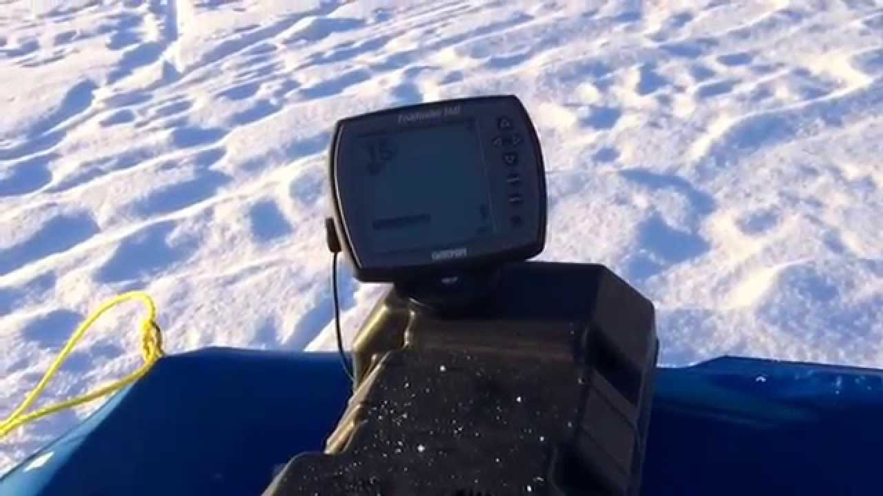 Ice fishing hack using a garmin fishfinder 140 on the ice for Garmin ice fishing