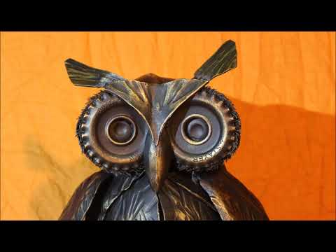 Owl. Handmade. Scrap Metal. Home decor. Welding art