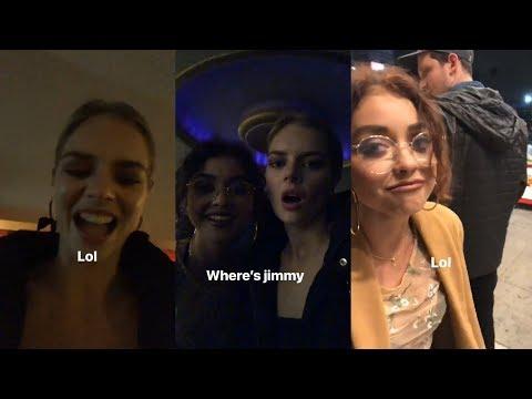 Samara Weaving  Snapchat Story  12 February 2018 w Sarah Hyland