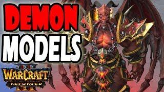 Warcraft 3 Reforged DEMON ARCHIMONDE KIL'JAEDEN MANNOROTH & MORE CHARACTER MODELS!