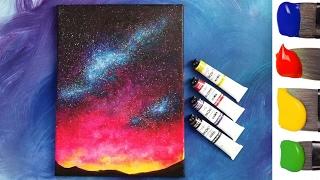 Рисуем космос акрилом(Материалы, которые нужны для рисования этой картины: - акрил, - кисти, - акварельная бумага, грунтованный..., 2017-02-01T10:19:16.000Z)