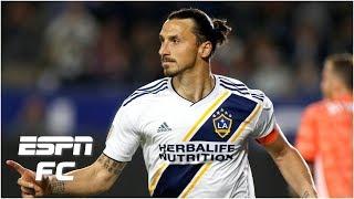 Zlatan scores twice, including a Panenka   LA Galaxy vs. Portland Timbers   MLS Highlights