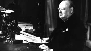 Winston Churchill reads