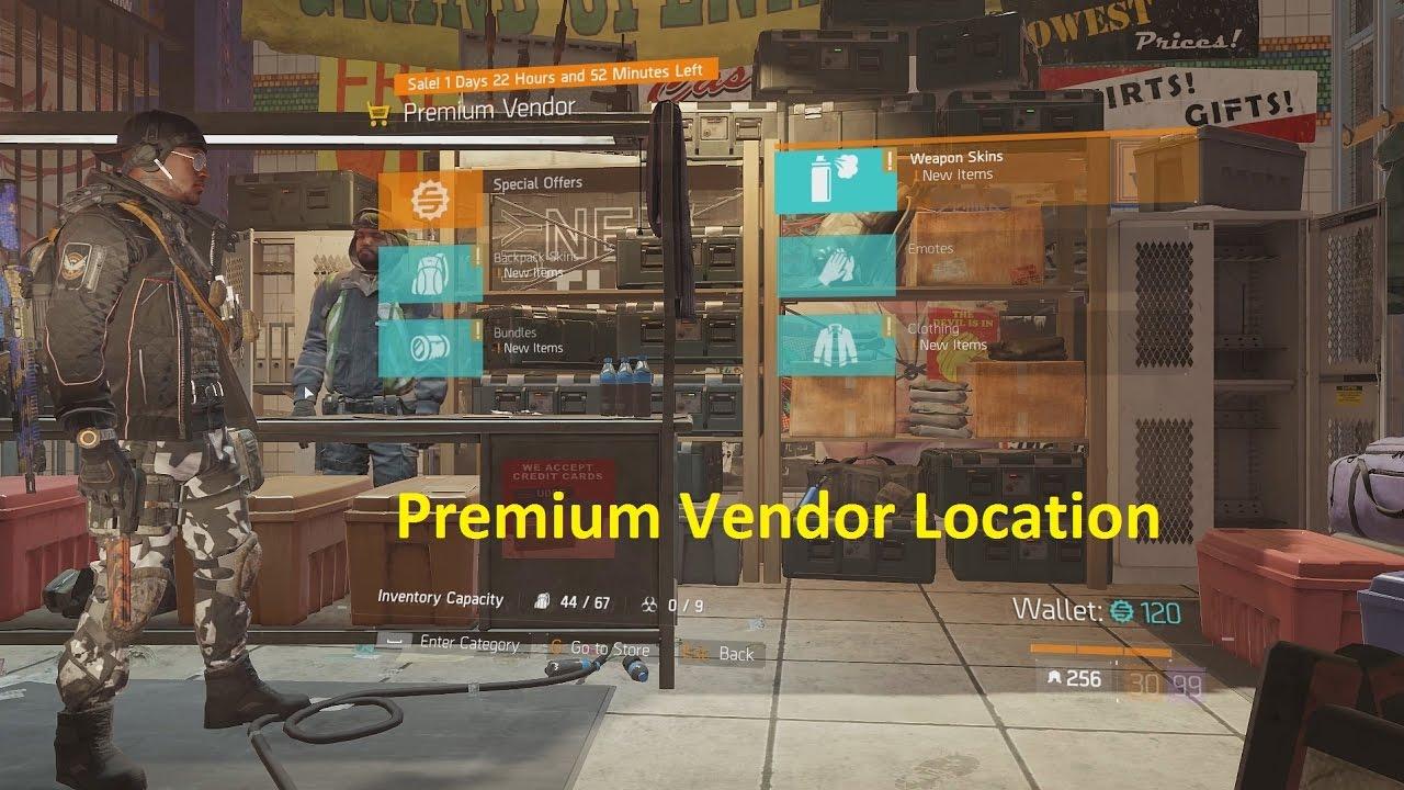 The Division 1 6 - Premium Vendor Location