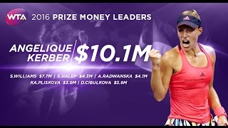 2016 WTA Prize Money Leaders