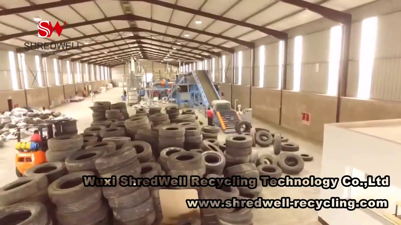 Scrap Tire Recycling Plant in S Africa | The biggest Tyre Recycling System  | SHREDWELL, CHINA