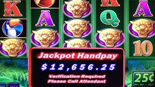 HUGE JACKPOT HANDPAY WITH 48 FREE SPINS ★ PROWLING PANTHER ➜ HIGH LIMIT SLOT PLAY