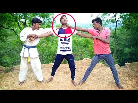 Road fight में दो लोगों से कैसे बचे||How to avoid two people in a road fight||Self defence technique