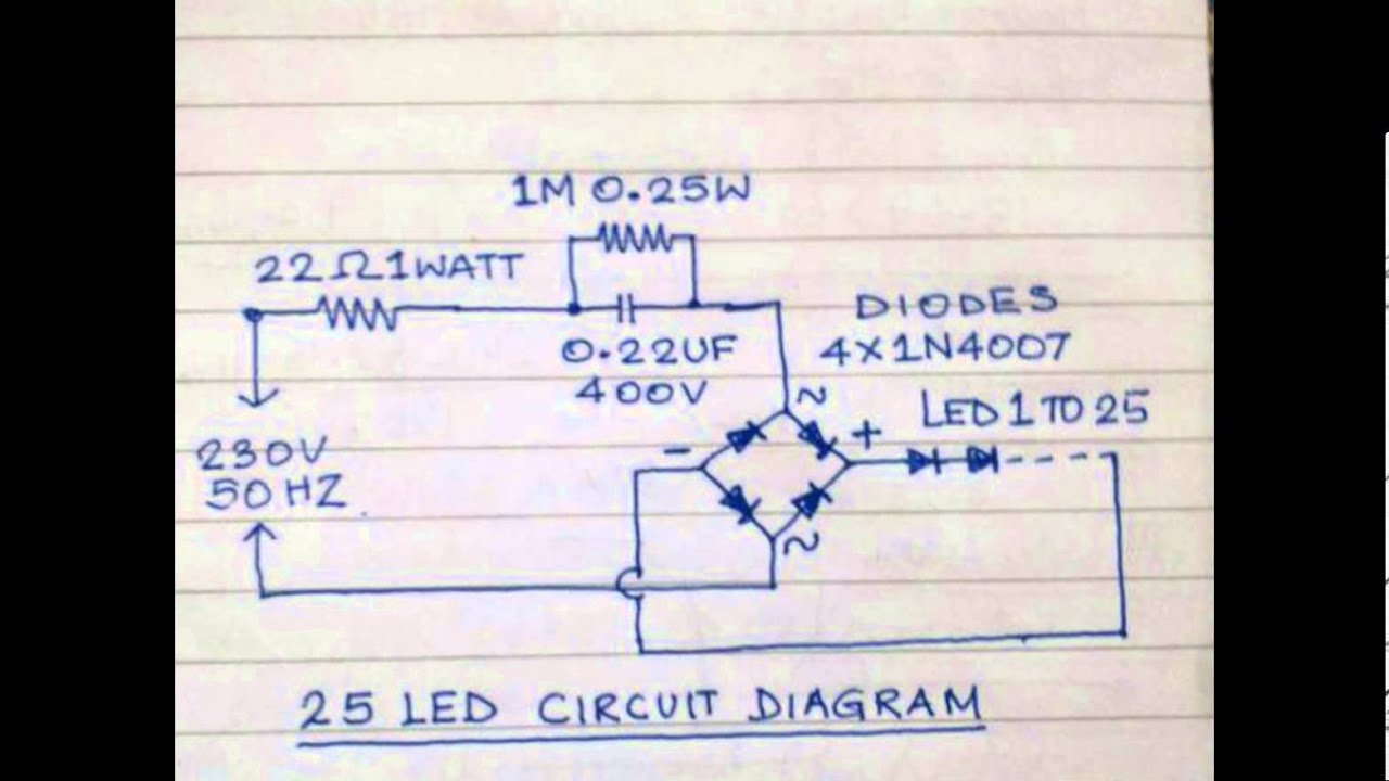 Led Home Night Lamp Circuits 01 Youtube L E D Circuit Diagram