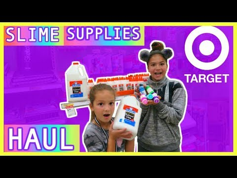 SHOPPING SLIME SUPPLIES AT TARGET , BIG HAUL