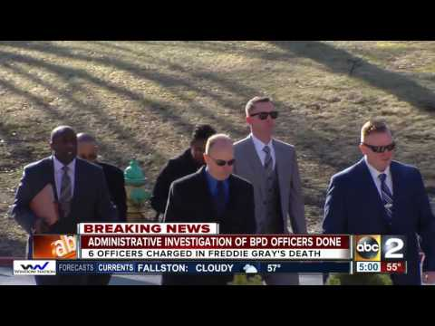 BPD reviews administrative investigation of police officers involved in Freddie Gray death