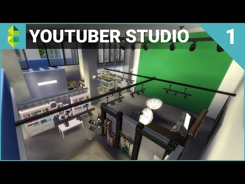 The Sims 4 Building - YouTuber  Streamer Studio Part 1