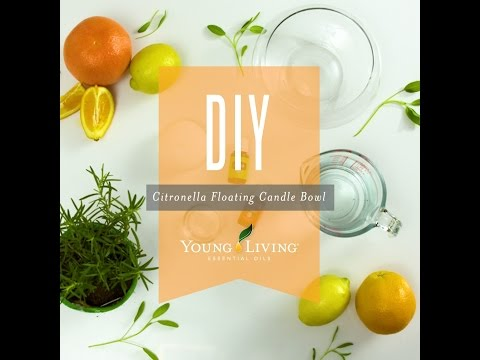 DIY Citronella Essential Oil Floating Candle Jar | Young Living Essential Oils