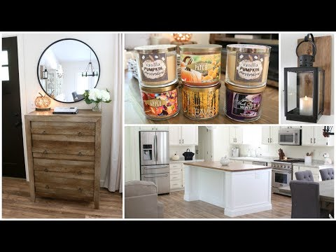 New Home Decor & New Kitchen Island, Fall Decor, Bath & Body Works Fall Haul + Garage Sale Finds