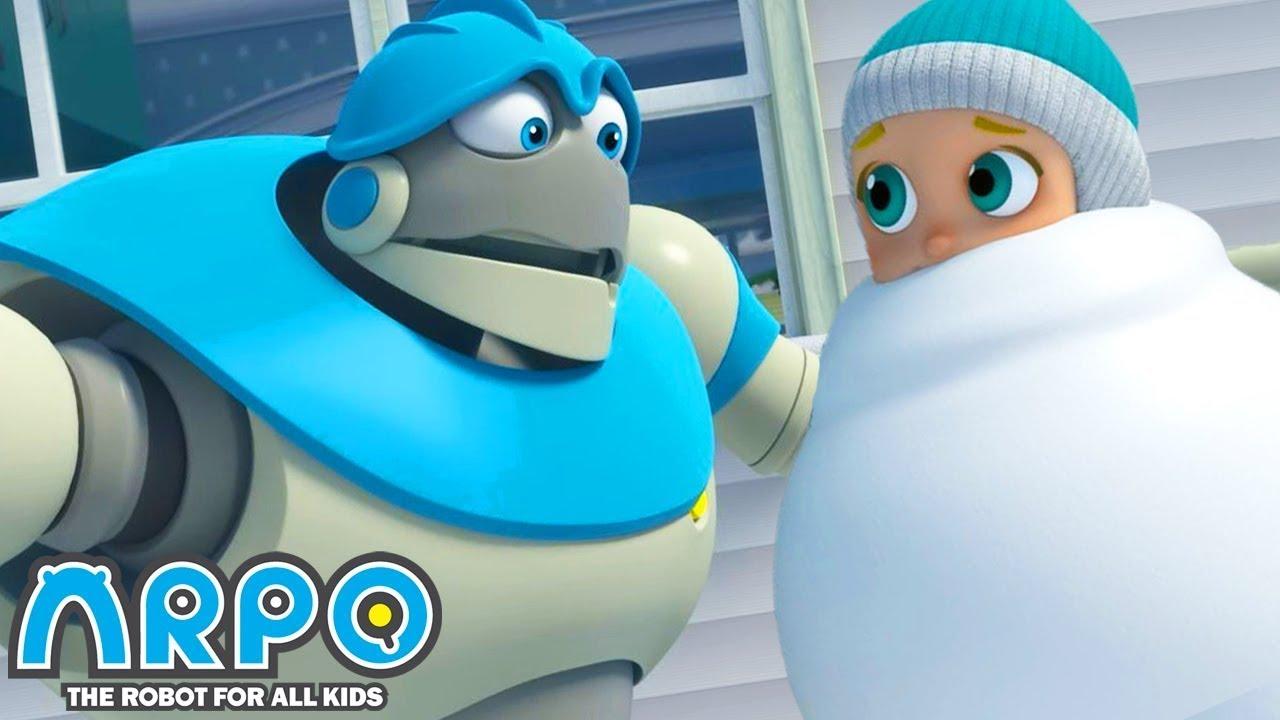 Download Arpo the Robot | BIGGEST SNOWMAN!!! | Funny Cartoons for Kids | Arpo and Daniel