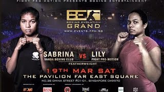Download Video Sabrina (Vanda Boxing Club) v Nurlily (Fight Pro-Motion) - Women's Feather 55kg Round 2 MP3 3GP MP4
