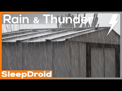 ►4k Video. 2 hours of Heavy Rain and Thunder on a metal roof