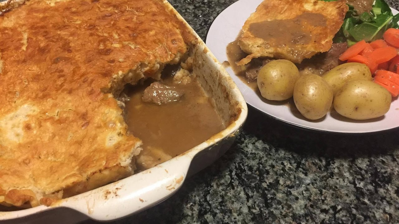 Suet Pastry Steak and Ale Pie with Jam Roly Poly! - YouTube