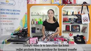 How to transfer Mecolour sublimation wallet by vision sublimation paper