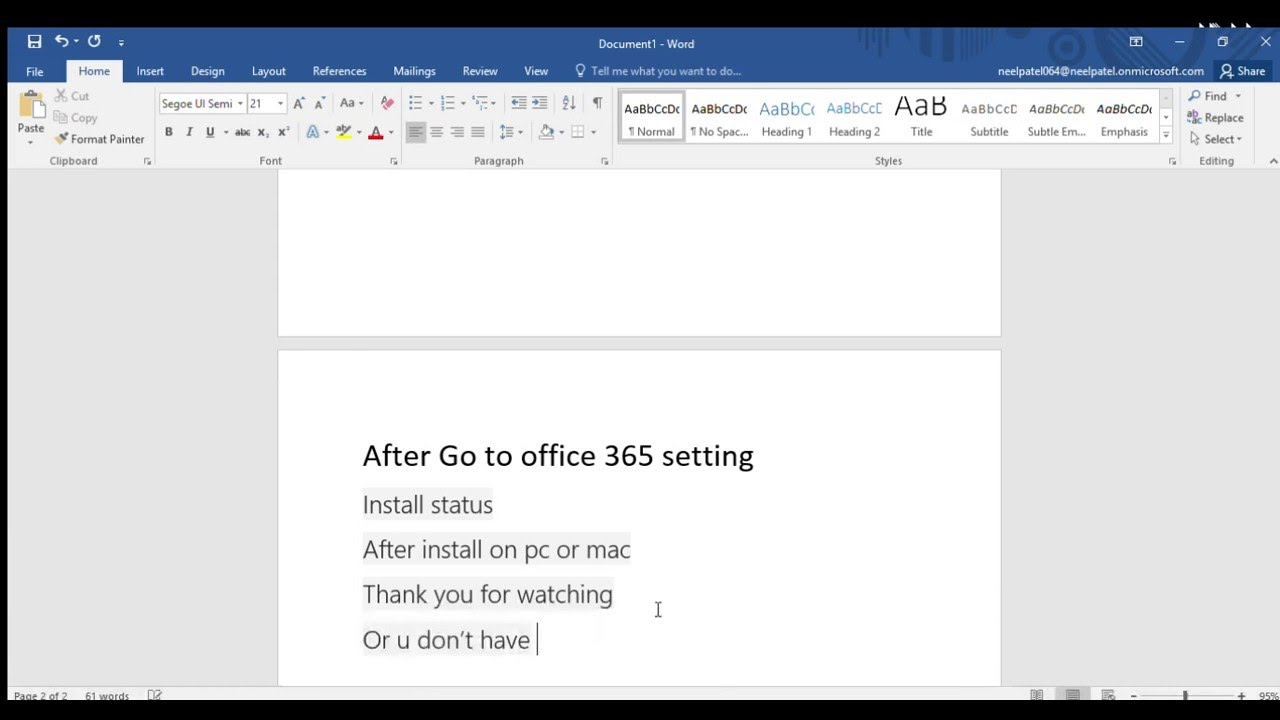 How to get free microsoft office 365 u have account - YouTube