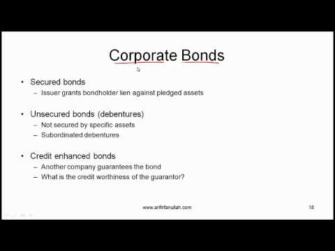 CFA Level I Bond Sectors and Instruments Video Lecture by Mr. Arif Irfanullah Part 4