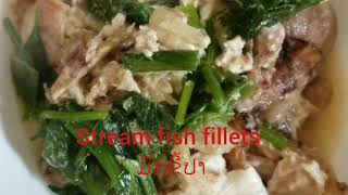 Stream fish fillets Lao food ມົກຂີ້ປາ