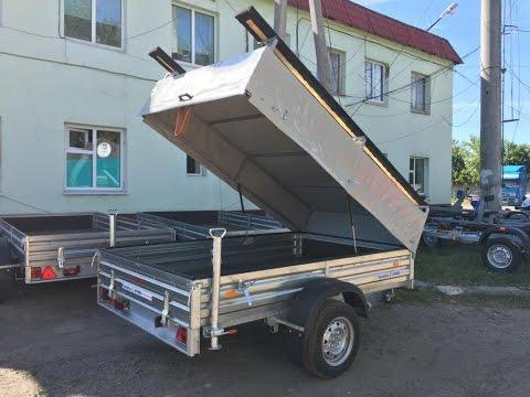 Прицеп для лодки ПВХ. Откидной стапель для лодки. МЗСА 817702. ЦЛП АРИВА