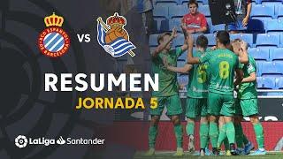 Resumen de RCD Espanyol vs Real Sociedad (1-3)