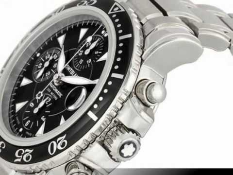 Montblanc Sport XXL Automatic Chronograph Mens Watch 3273 - YouTube