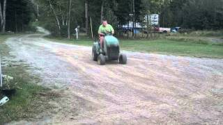 The biggest lawn mower wheelie ever recorded