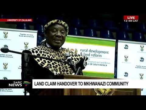 Ramaphosa speaks at land claim handover to Mkhwanazi community