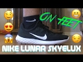 Nike Lunar Skyelux black and white (ON FEET) These shoes are amazing!