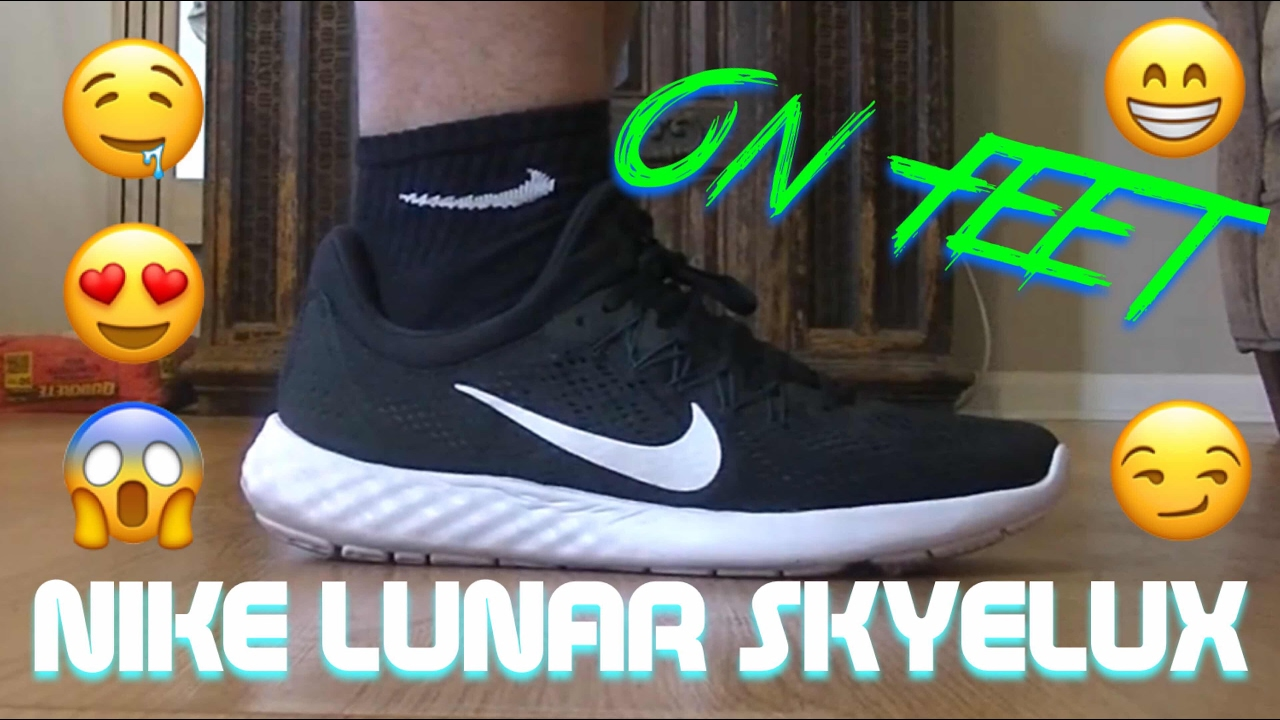 best loved e2cd9 84c11 Nike Lunar Skyelux black and white (ON FEET) These shoes are amazing! -  YouTube