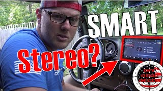 "Jeep Wrangler 10"" inch Android Car Stereo Install and First Impressions Review"