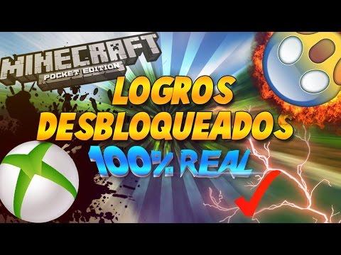 TODOS LOS LOGROS DESBLOQUEADOS OMG!!|MINECRAFT PE 1.3,17.0