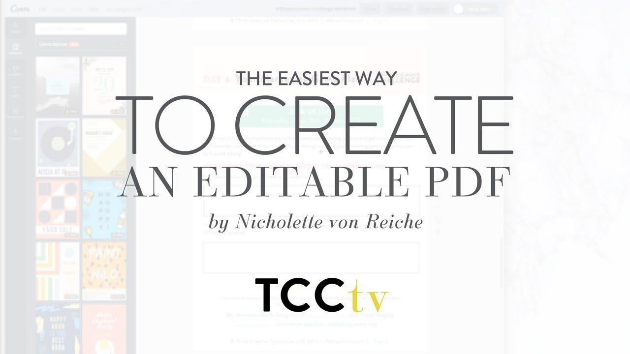 make pdf editable