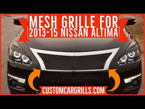 How to Install a Mesh Grille on a Nissan Altima 2013 – 2015 by customcargrills.com