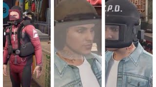GTA 5 Online The Doomsday Heist DLC   All new clothing, riot helmets and outfits!