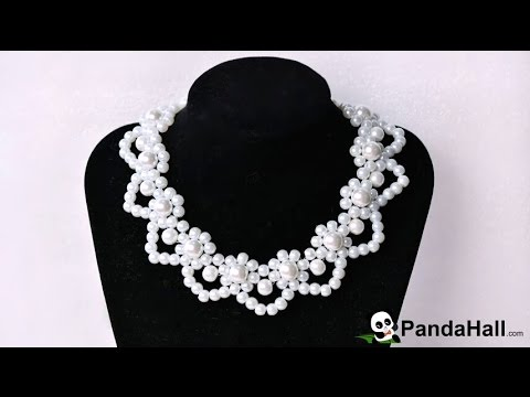 vid o 27 photo comment faire un collier l gant avec perles en verre nacr pour mariage youtube. Black Bedroom Furniture Sets. Home Design Ideas