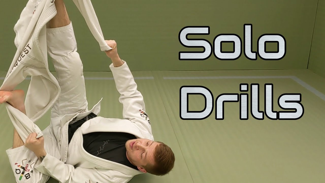 Solo Spider Guard and Lasso Leg Drills by Bo Walaszek - BeltQuest Jiu Jitsu