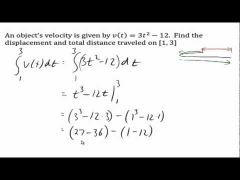 Displacement And Total Distance Traveled Youtube