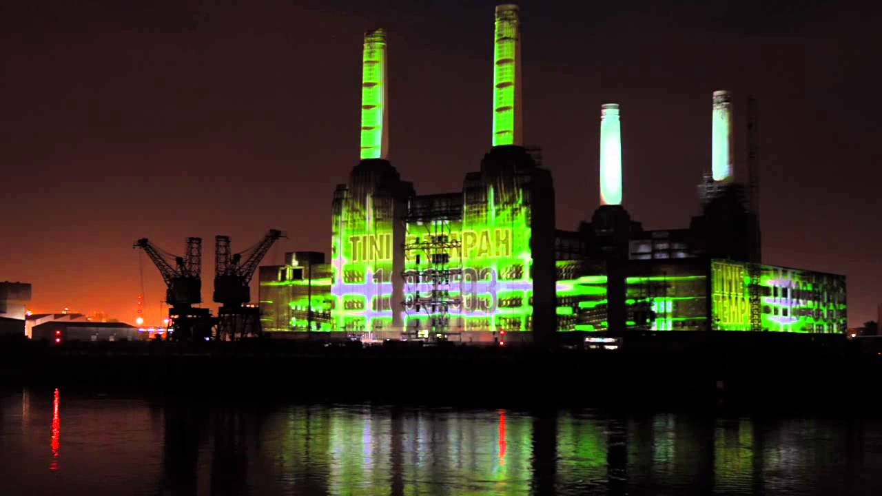 Nike  FuelFest Interactive Projection Mapping at Battersea Power ...