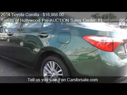 2017 Toyota Corolla L 4dr Sedan 4a For In Hollywood Fl